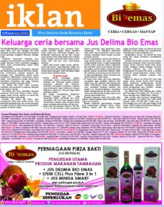promosi Jus Delima Bio Emas di akhbar Utusan Malaysia 13/8/2016