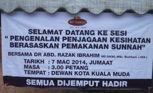 Promosi Jus Delima Bio Emas di Kota Kuala Muda Kedah